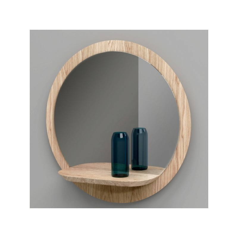 miroir rond design en bois sunrise large reine m re. Black Bedroom Furniture Sets. Home Design Ideas