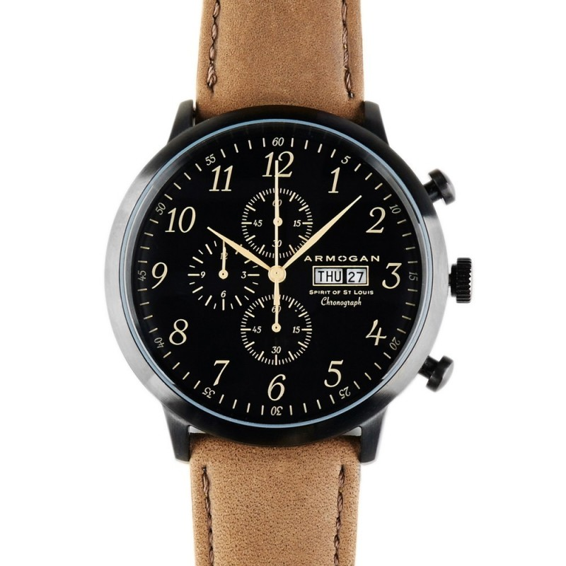 Montre Spirit Of St. Louis Chocolate Brown - Armogan