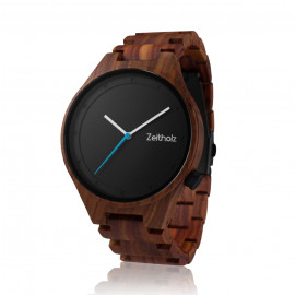 Montre Design Ronde en Bois de Santal